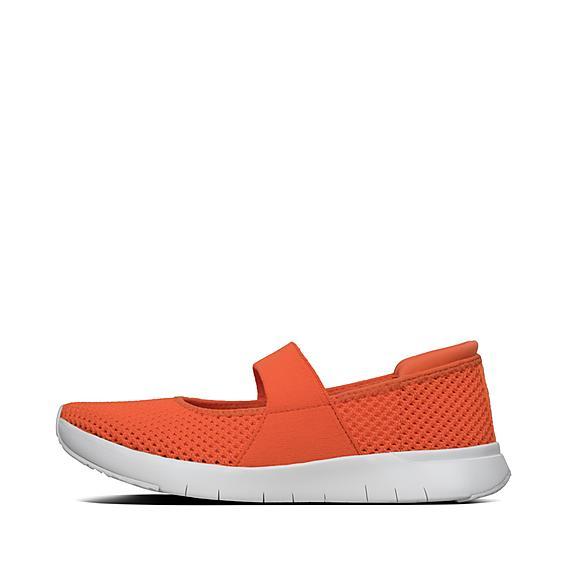 핏플랍 FitFlop AIRMESH Mary Janes,Neon Orange