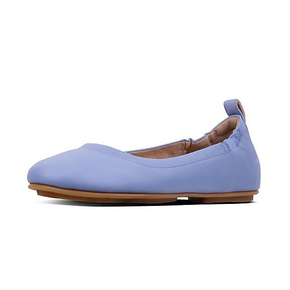 핏플랍 FitFlop ALLEGRO Leather Ballet Flats,Frosted Lavender
