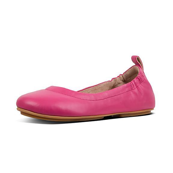 핏플랍 FitFlop ALLEGRO Leather Ballet Flats,Psychedelic Pink