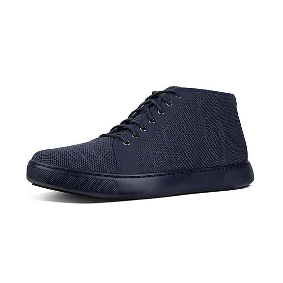 핏플랍 FitFlop ANDOR Mens Knit High-Top Sneakers,Supernavy