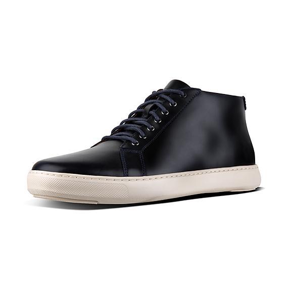 핏플랍 FitFlop ANDOR Mens Andor High-Top Sneakers,Supernavy