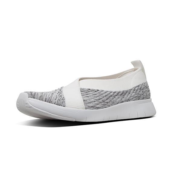 핏플랍 FitFlop ARTKNIT Ballet Flats,Urban White Mix