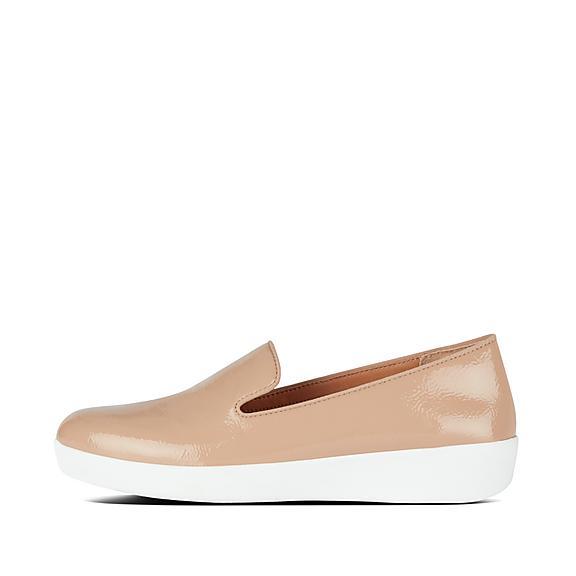 핏플랍 FitFlop AUDREY Faux Leather Loafers,Taupe