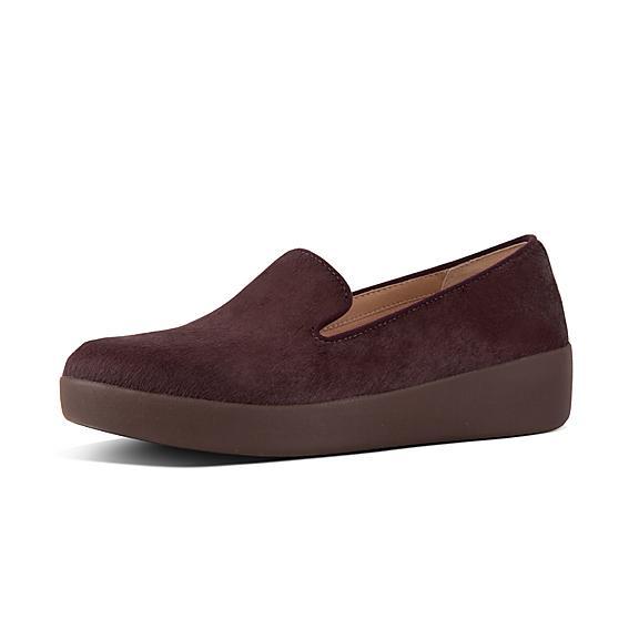 핏플랍 오드리 로퍼 FitFlop AUDREY Faux Leather Loafers,Berry