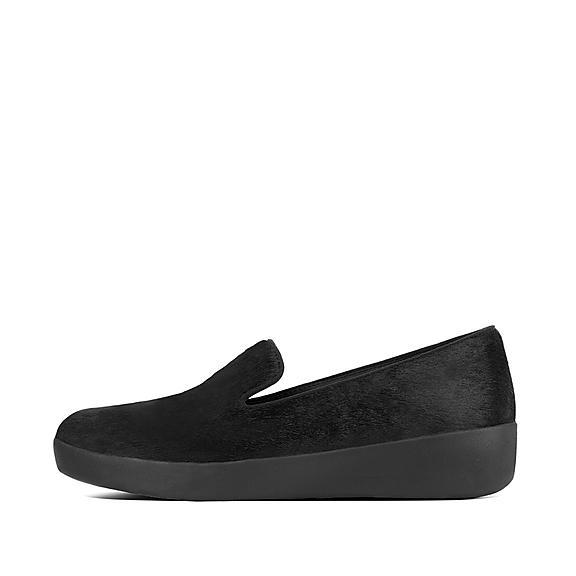 핏플랍 오드리 로퍼 FitFlop AUDREY Faux Leather Loafers,Black