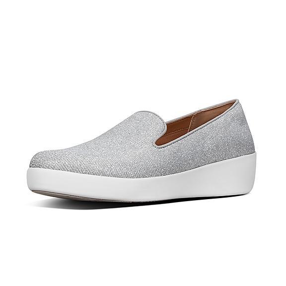 핏플랍 오드리 로퍼 FitFlop AUDREY Glitzy Loafers,Silver