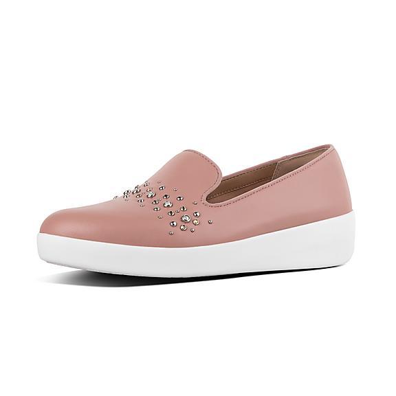 핏플랍 오드리 로퍼 FitFlop AUDREY Pearl Stud Loafers,Apple Blossom