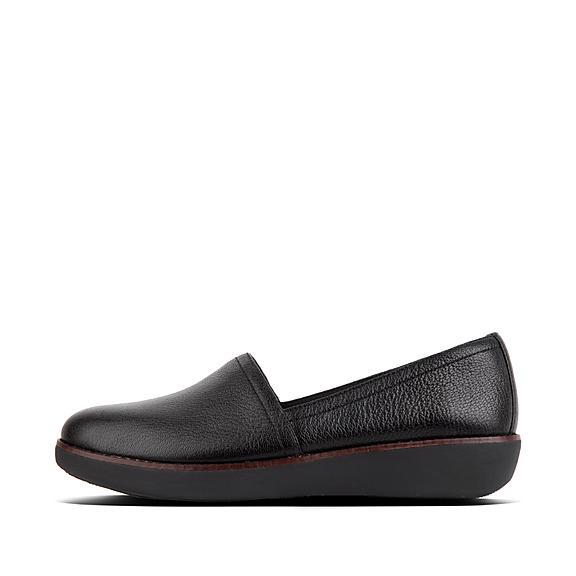 핏플랍 FitFlop CASA Leather Loafers,Black