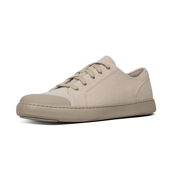 핏플랍 FitFlop CHRISTOPHE Toe-Cap Texture-Canvas Sneakers,Light Sand