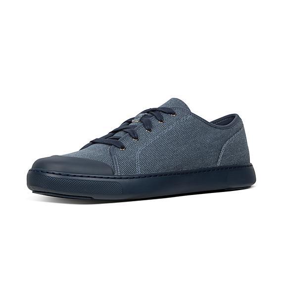 핏플랍 FitFlop CHRISTOPHE Toe-Cap Texture-Canvas Sneakers,Midnight Navy