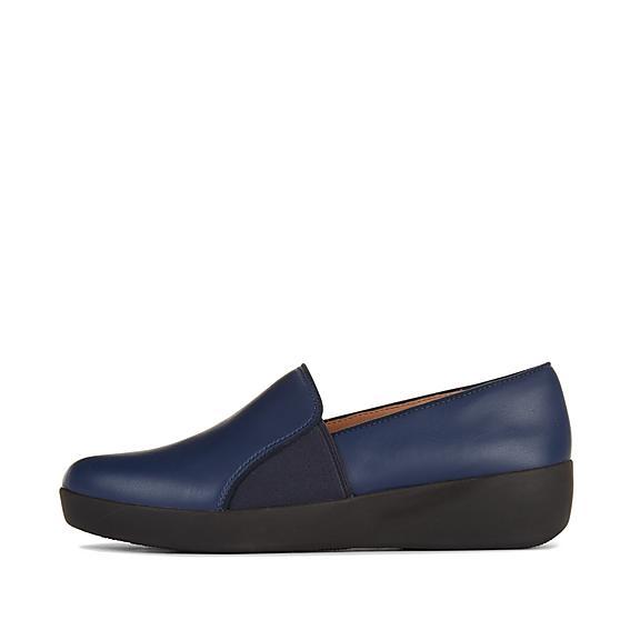 핏플랍 FitFlop COLETTE Slip-On Skate Shoes,Midnight Navy