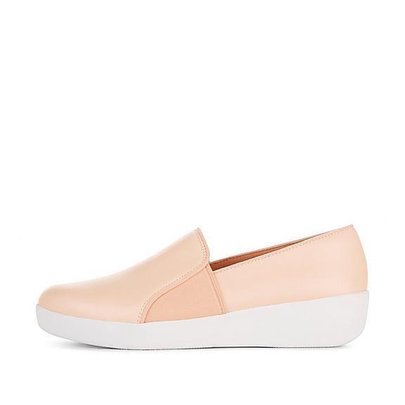 핏플랍 FitFlop COLETTE Slip-On Skate Shoes,Oyster Pink