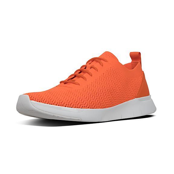핏플랍 FitFlop FLEXKNIT Sneakers,Neon Orange