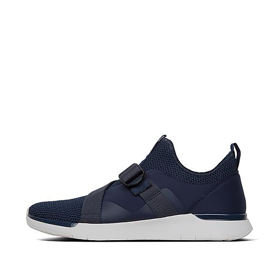 핏플랍 FitFlop FLEXKNIT V-Strap Sneakers,Midnight Navy