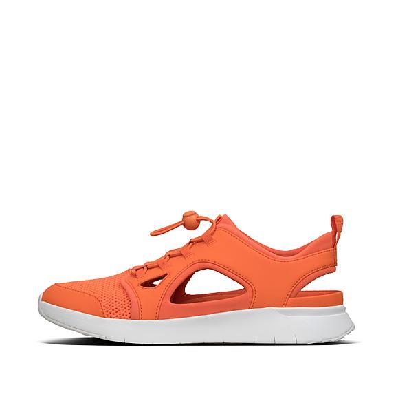 핏플랍 FitFlop HOLLIS Cut-Out Sneakers,Neon Orange