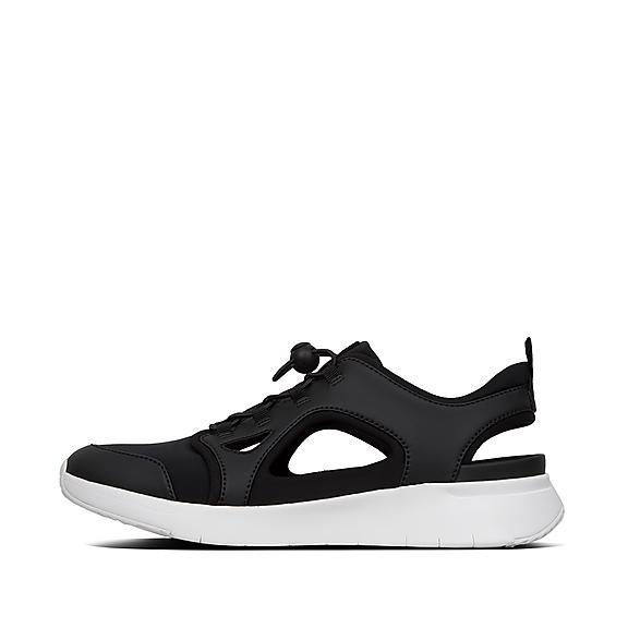 핏플랍 FitFlop HOLLIS Cut-Out Neoprene Sneakers,Black