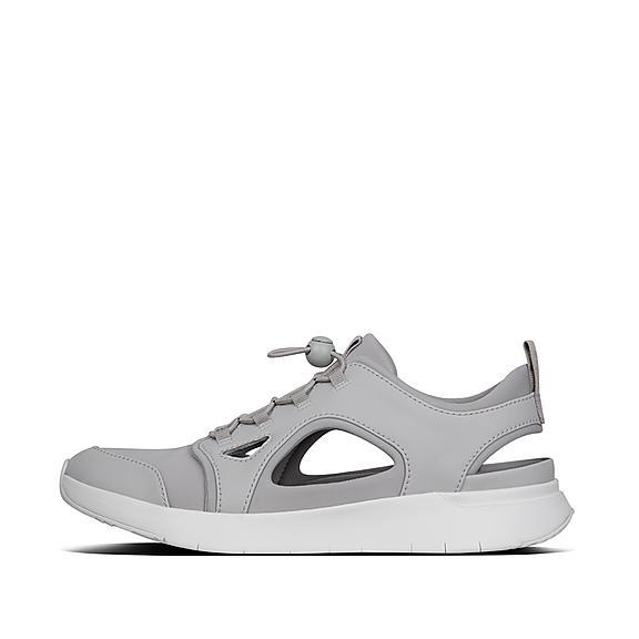 핏플랍 FitFlop HOLLIS Cut-Out Neoprene Sneakers,Light Gray
