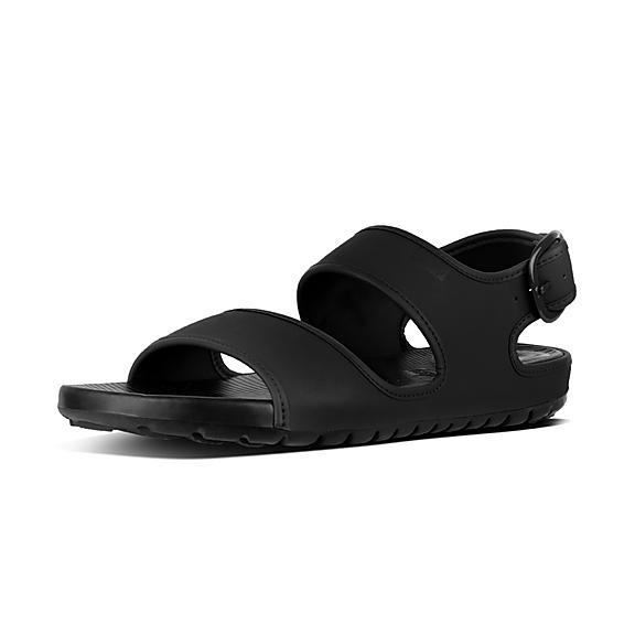 핏플랍 FitFlop LIDO Mens Neoprene Back-Strap Sandals,Black