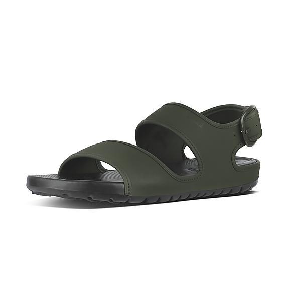 핏플랍 FitFlop LIDO Mens Neoprene Back-Strap Sandals,Camouflage Green