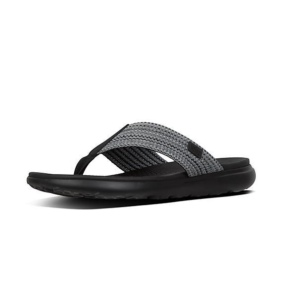 핏플랍 FitFlop LIDO Freshweave Webbing Toe-Thongs,Black