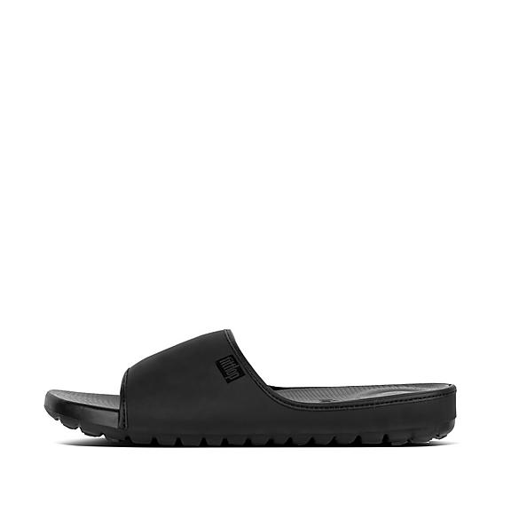 핏플랍 FitFlop LIDO Mens Neoprene Slides,Black