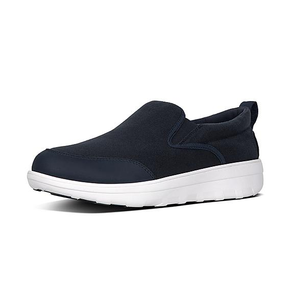 핏플랍 FitFlop LOAFF Mens Canvas Skates,Midnight Navy