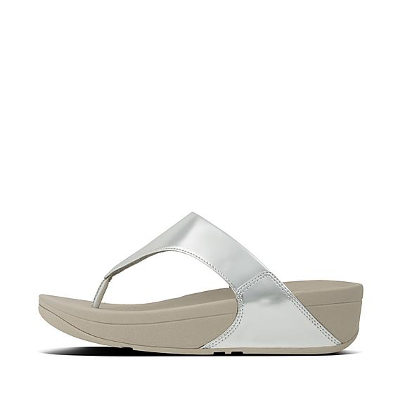 핏플랍 FitFlop LULU Mirror Toe-Thongs,Silver Mirror
