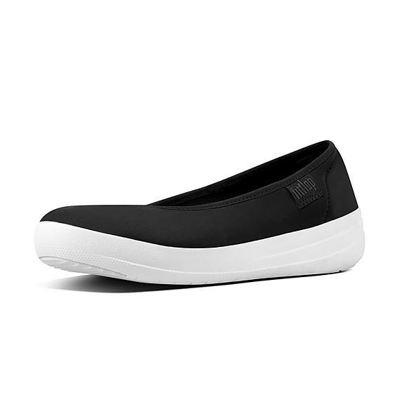 핏플랍 FitFlop RACHEL Scuba Ballet Flats,Black