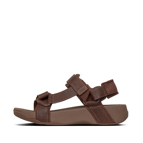 핏플랍 FitFlop RYKER Back-Strap Sandals,Chocolate Brown