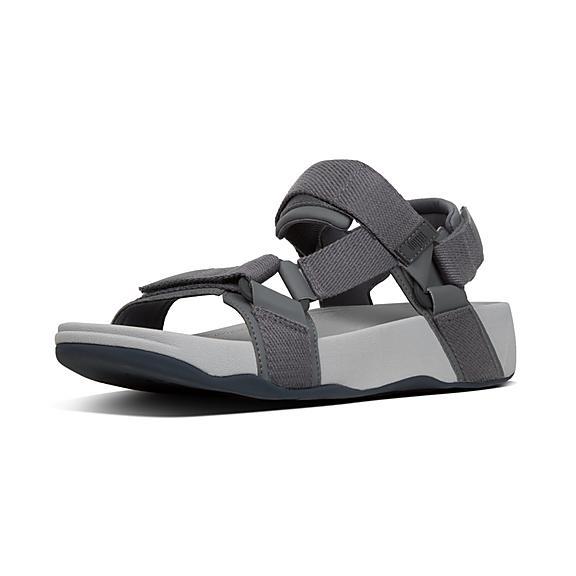 핏플랍 백스트랩 샌들 FitFlop RYKER Webbing And Neoprene Back-Strap Sandals,Grey