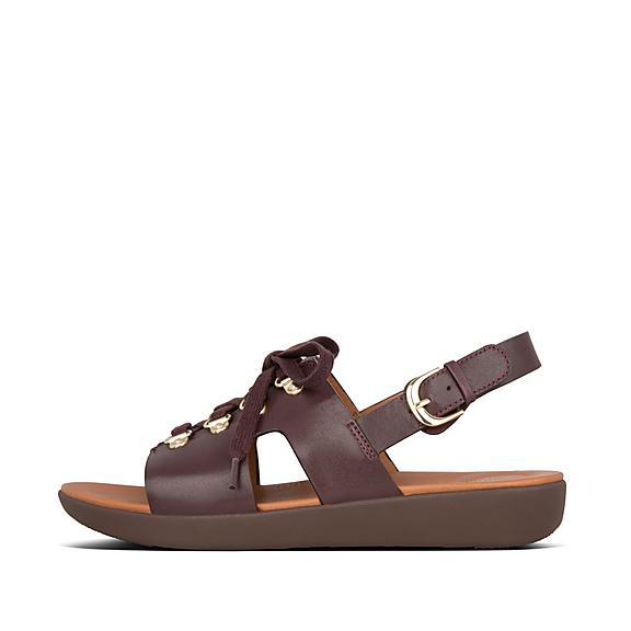 핏플랍 FitFlop SKANDI H-Bar Leather Back-Strap Sandals,Lingonberry