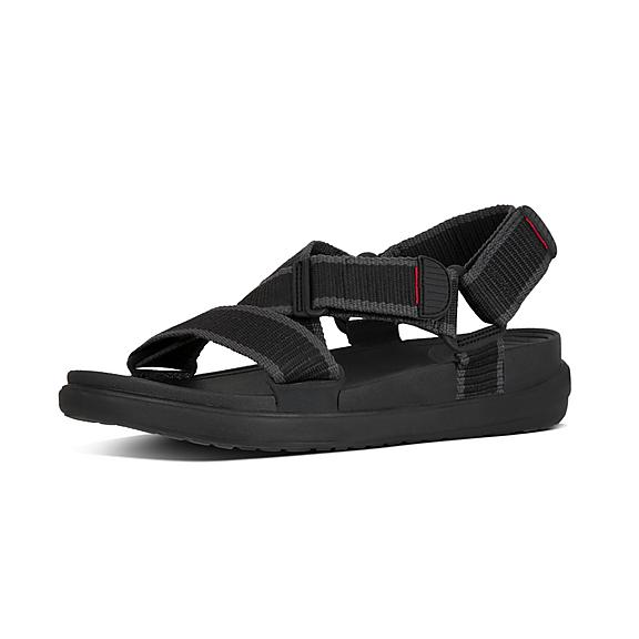 핏플랍 FitFlop SLING II Mens Back-Strap Sandals,Black Charcoal
