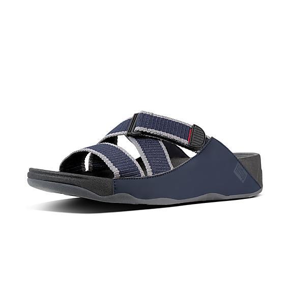 핏플랍 FitFlop SLING II Mens Slide Sandals,Midnight/Navy Charcoal