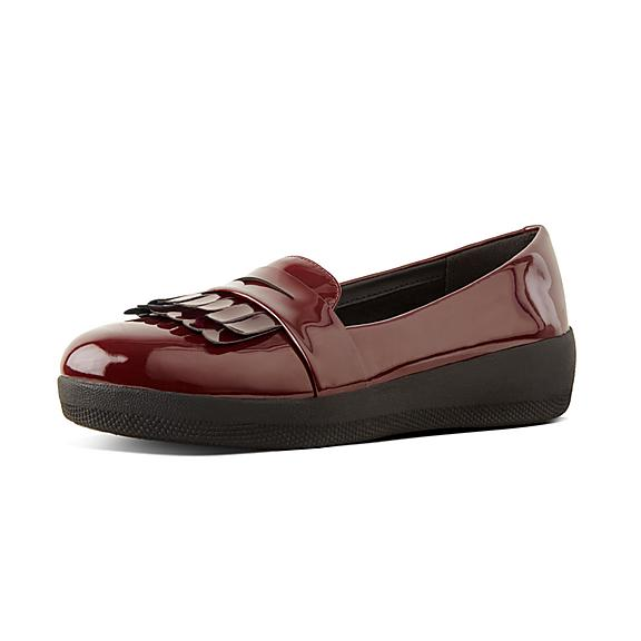 핏플랍 FitFlop SNEAKERLOAFER Patent Loafers,Hot Cherry