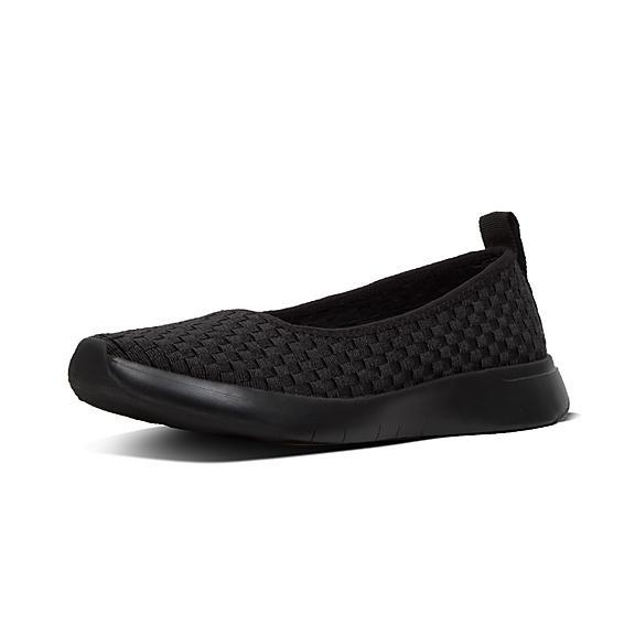 핏플랍 FitFlop STRETCHWEAVE Ballet Flats,Black