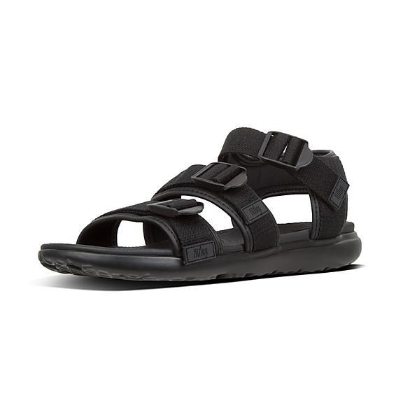 핏플랍 FitFlop TREY Webbing Back-Strap Sandals,Black