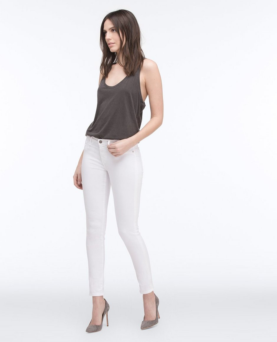 The Legging Ankle In White Skinny Jeans | AG Jeans Official Store