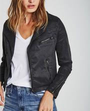 The Vintage Leatherette Biker Jacket