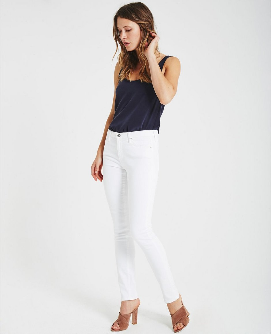 The Prima In White Cigarette Jeans | AG Jeans Official Store