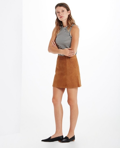 The Suede Juliette Skirt