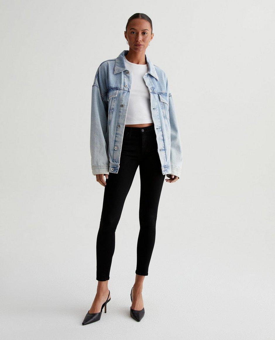The Legging Ankle In Super Black Skinny Jeans | AG Jeans Official ...