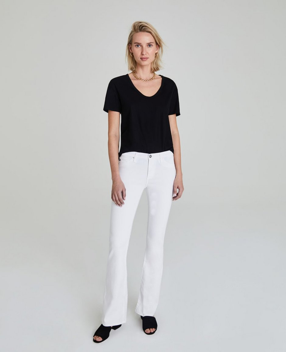 Ag angel bootcut jeans white