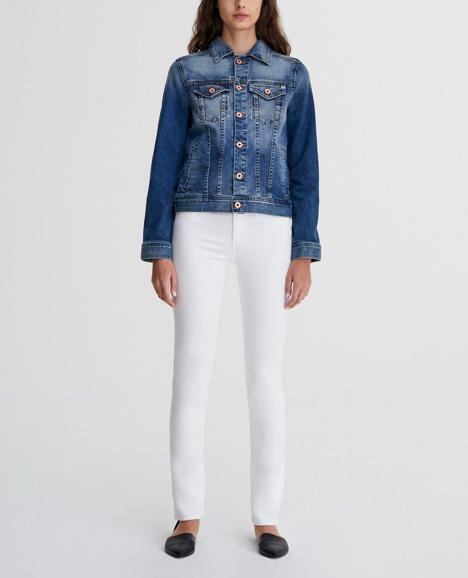 The Harper In White Straight Jeans | AG Jeans Official Store