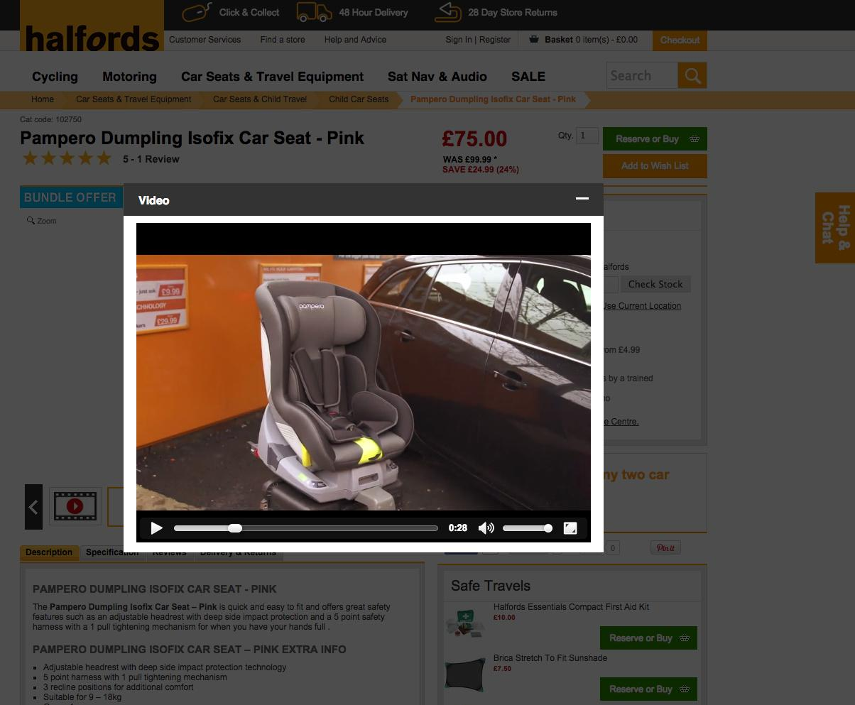 Halfords how to video