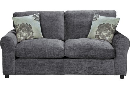HOME Tessa 2 Seater Fabric Sofa Bed - Charcoal.