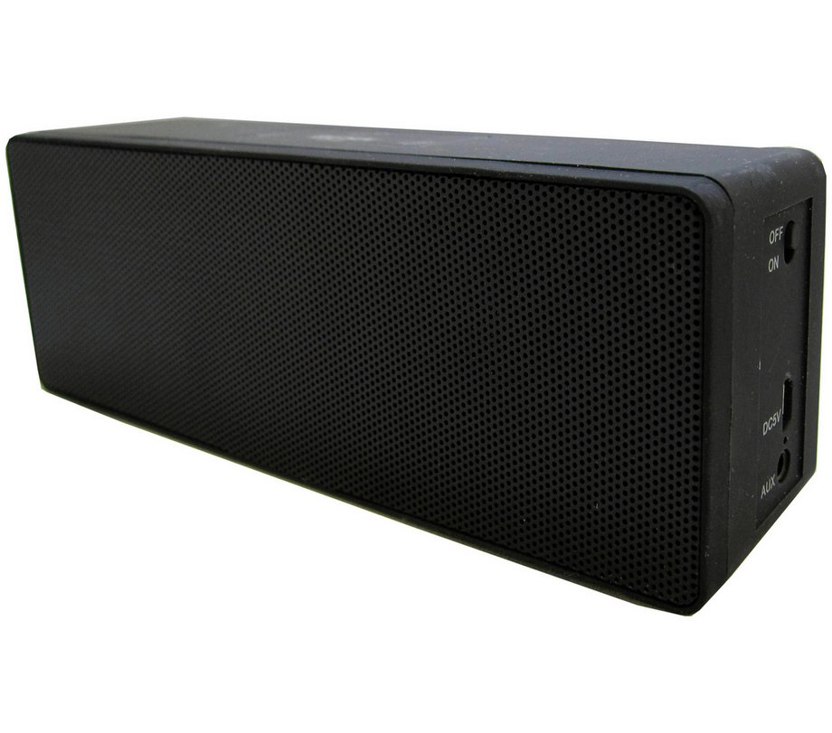 Bush Stereo Rechargeable Portable Wireless Bluetooth Speaker Phone In Black