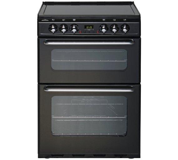 buy new world ec600dom double electric cooker black at. Black Bedroom Furniture Sets. Home Design Ideas