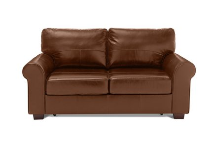 Heart of House Salisbury 2 Seater Leather Sofa Bed - Tan.