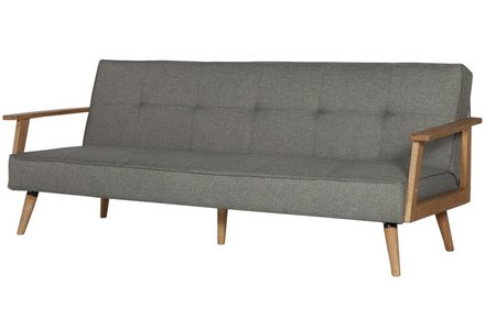 Hygena Margot 2 Seater Fabric Sofa Bed - Charcoal.