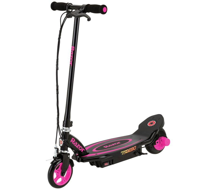 new razor power core e90 kids electric scooter in pink rechargeable battery ebay. Black Bedroom Furniture Sets. Home Design Ideas